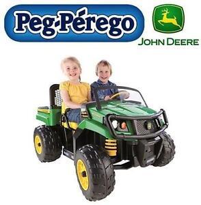 USED* PEG PEREGO GATOR XUV RIDE-ON JOHN DEERE, GATOR XUV 550, 12V, 2 SPEED PLUS REVERSE 103407523