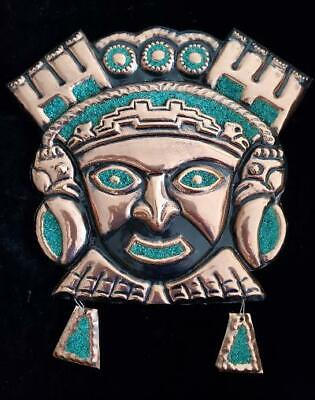 Large Tumi Wall Jewelry with Turquoise Stones / Face, New IN