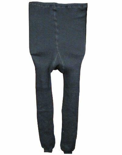 Damen Strumpfhose Gamaschen Leggings Warm Winter Blickdicht schwarz 100% Wolle