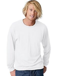 Hanes TAGLESS® EcoSmart® Men's Long-Sleeve T-Shirt - style 24269