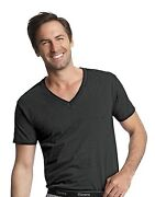 V Neck T Shirt Men Hanes