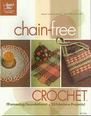 (Chain-Free Crochet Patterns Afghan Throw Shawl Purse Doily + Annie's Attic NEW)