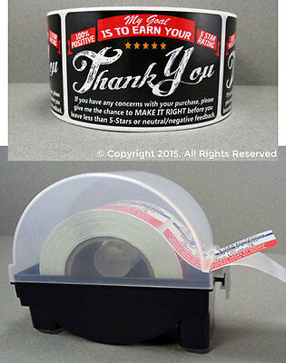 200 Ebay Etsy Amazon Thank You For Your Purchase Stickers Label Dispenser 2x3