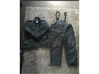 Coarse Carp Fishing Cold Weather Green Suit XL Insulated Jacket And Bottoms