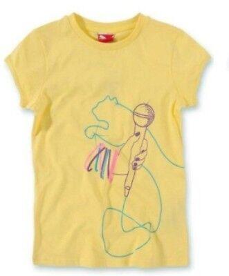 NEU PUMA Music Musik Tee T-Shirt Baumwolle gelb - Glitzer Mikrofon