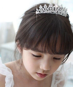 Children's Girls Bridal Wedding Tiara Evening Sparkling Diamante Prom Tiara Comb