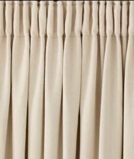 Pencil pleat blockout curtains with tracks Newington Auburn Area Preview