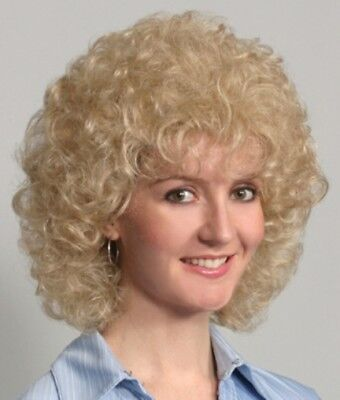 60S 70S WOMENS SHORT LENGTH TO COLLAR SOFT CURLS CURLY WIG MISTY GOLDEN GIRLS 60s 70s Wigs