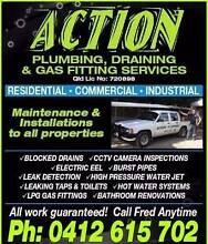 ACTION PLUMBING SERVICES: CALL FRED ANYTIME. Robina Gold Coast South Preview