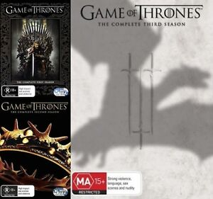 GAME OF THRONES Seasons 1 + 2 + 3 = NEW R4 DVD