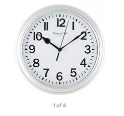 """MAINSTAYS 8.78"""" Silver Basic Wall Clock -NIB"""