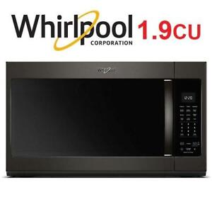 NEW* WHIRLPOOL SS 1.9 CU MICROWAVE YWMH32519HV 224955303 OVER THE RANGE CAPACITY STEAM W/SENSOR COOKING BLACK STAINLE...