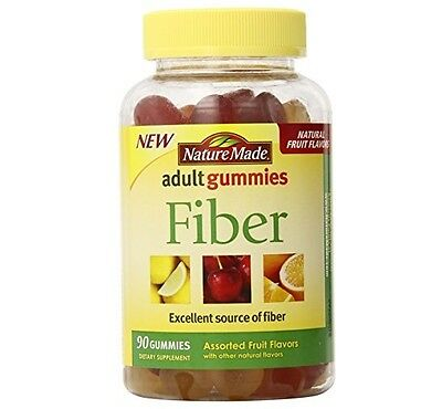 Nature Made Fiber Adult Gummies, Assorted Fruit 90 Ea (pa...