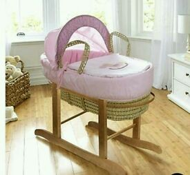 Kinder my little rocker pink moses basket. Only. All brand new in sealed packs. 3 left in stock.