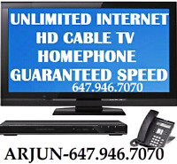 135+ CHANNELS CABLE TV + UNLIMITED INTERNET FAST + PHONE $92
