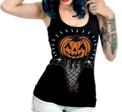 Too Fast Pumpkin I Scream Ice Cream Cone Racerback Tank ()