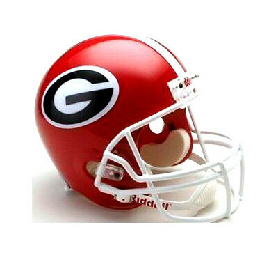 Georgia Bulldogs Riddell NCAA College Football Deluxe Replica Full Size Helmet Bulldogs Deluxe Replica Helmet