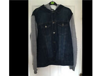 Mens denim hooded jacket