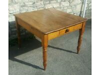 A rustic old pine table (free local delivery)