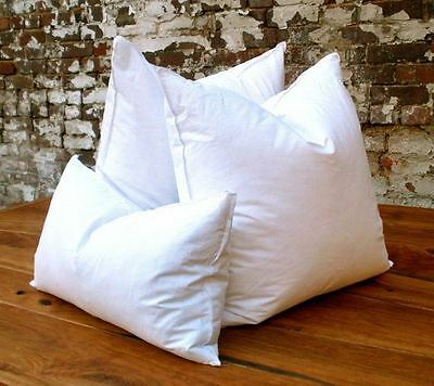 10% Goose Down 90% Duck Feather PILLOW INSERT Form WHITE Muslin Cover Made in US