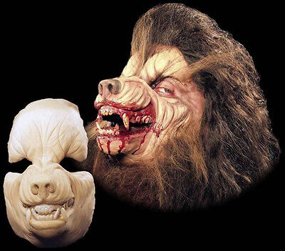- Werewolf Halloween Mask Foam Latex Prosthetic Appliance Wolf  Moves with Face
