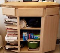 Kitchen Cabinet with Wood Butcher Block PRICE DROP!