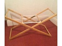 Folding Moses basket cot stand mothercare
