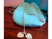 Tiffany and co double heart tag pendant
