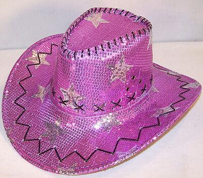 SEQUIN PURPLE STAR COWBOY HAT supply western dance hats