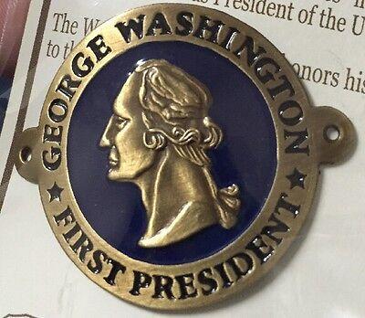 George Washington 1st President Hiking Medallion, Shield, NEW! Goes On Stick