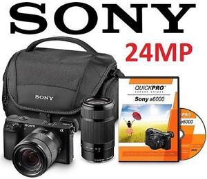REFURB SONY A6000 24MP CAM BUNDLE - 107429621 - Lens Bundle with 18-55mm Lens, 55-210 Lens,  CAMERA CASE ELECTRONICS - 1