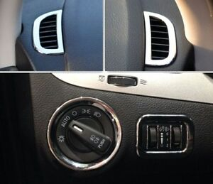 Dodge Journey Fiat Freemont 2012-2018 Chrome CONSOLE AIR VENT switch cover TRIM
