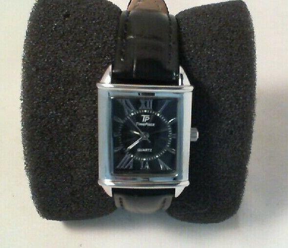 Time Piece Damen-Armbanduhr Classic Analog Quarz Leder Eckig