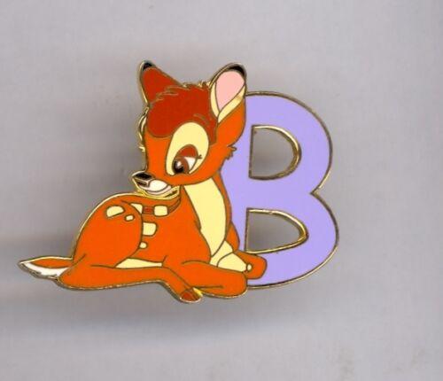 Disney Disneyland Young Bambi Sitting Alphabet Letter B Series Pin 2001