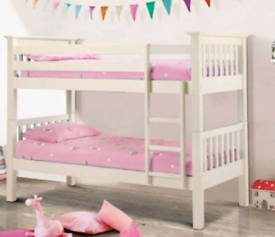 Bunk bed with mattresses. Delivery available extra cost