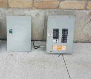 electric fuse panel box with circuit breakers included  $120