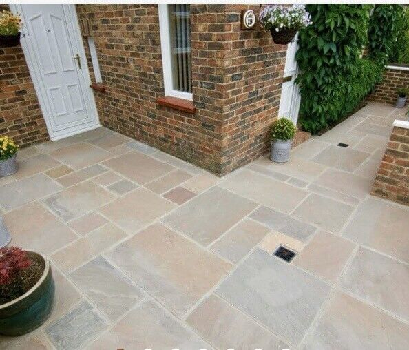 Indian sandstone autumn brown stone slabs | in ...