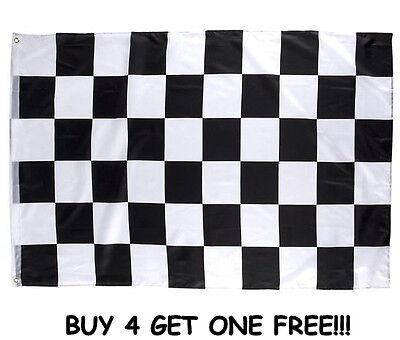 "CHECKERED FLAG 3 X 5 FEET 36"" X 60"" NASCAR RACING BLACK AND WHITE BANNER"