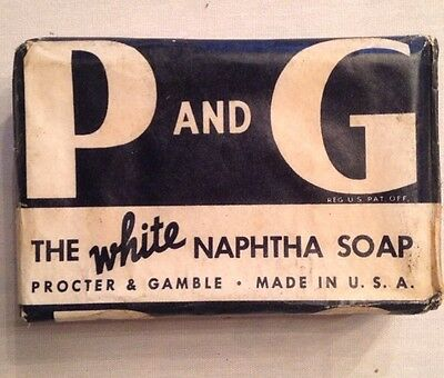 Vintage P G The White Naphtha Soap Procter   Gamble Original Package Unopened X