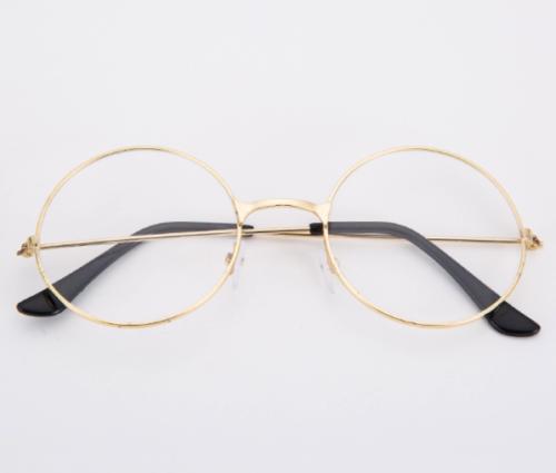 e90e0b5103 Women Men Clear Lens Round Circle Eye Glasses Large Oversized Metal Frame  Nerd