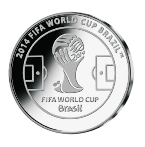 Official Commemorative Medal, Silver, FIFA World Cup 2014