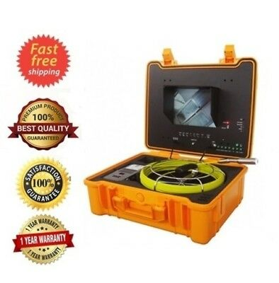 Sewer Drain Pipe Cleaner 10 Lcd 130ft Cable Inspection Snake Video Camera 512hz