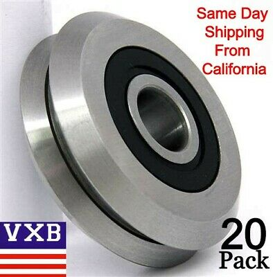 20 Pieces Rm2-2rs 38 Inch Track Roller Bearing V Groove Rubber Sealed 0.375
