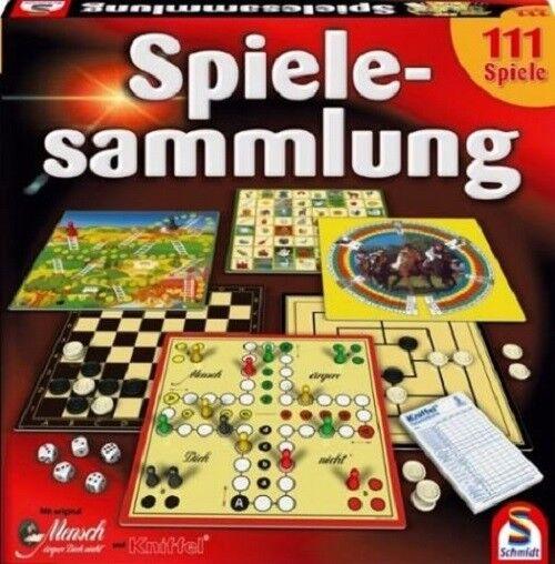 111 Spiele, Spielesammlung von Schmidt mit Kniffel, Mensch ärgere Dich nicht usw