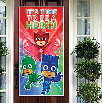 Wall Scenes For Parties (PJ MASKS birthday party Scene Setter welcome kit for wall/door Catboy)