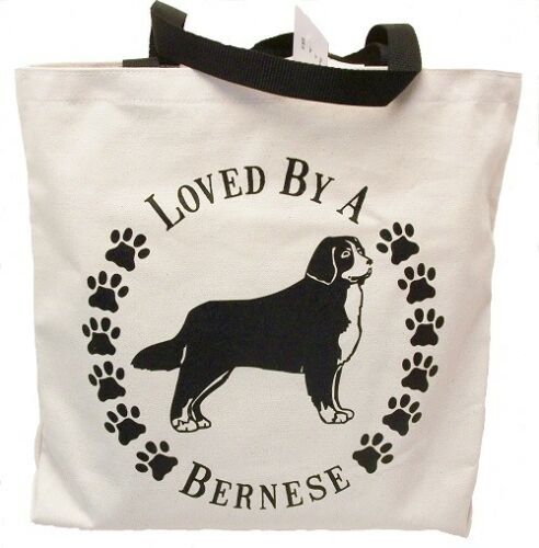 Loved By A Bernese Tote Bag New  MADE IN USA