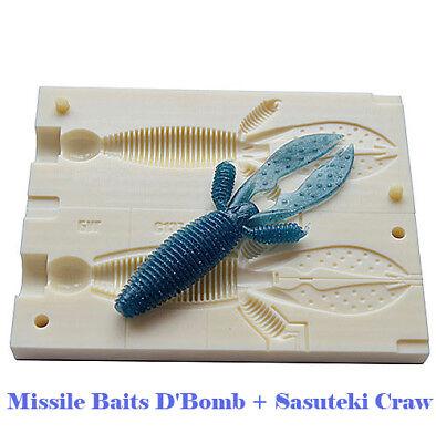 Tackle Craft DIY Injection Bait Mold Lunker City Shaker  V123 6/163 mm CNC Mold