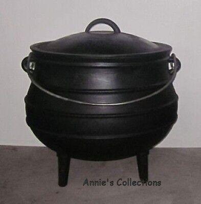 Cast Iron Potjie Pot Sz 4  Gypsy Cauldron Survival Kettle