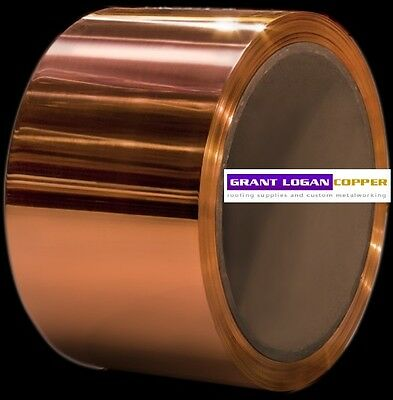 Copper Sheet .0216 Thick - 16oz - 24 Ga - 4x120 - Free 48 State Shipping