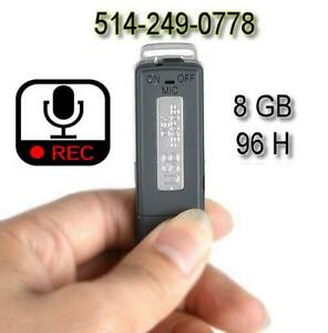 ► Enregistreur audio USB micro voice vocal recorder 8GB ◄